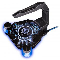 ENHANCE Gaming Mouse Bungee & Active 2.0 USB Hub for Cord Management
